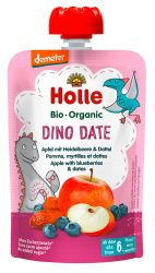 Holle Bio Dino Date - Tasak Alma áfonyával és datolyával 90 g