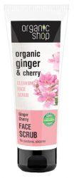 Organic Shop Tisztító arcradír bio gyömbér és cseresznye kivonattal 75 ml