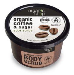 Organic Shop Bőrmegújító cukros testradír - Brazil Kávé 250 ml