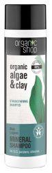 Organic Shop Erősítő sampon bio alga és agyag kivonattal 280 ml
