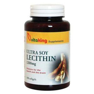 VitaKing Gyógynövények Lecitin 1200 mg gélkapszula  (VK 815) 100 db