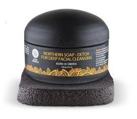 Natura Siberica Mélytisztító arclemosó szappan aktív szénnel 120 ml