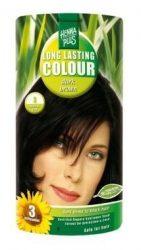 HennaPlus női tartós hajfesték, barna árnyalat, sötétbarna (3) (Long Lasting Colour, Dark Brown)