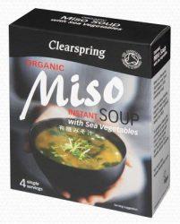 Clearspring Bio Miszo levespaszta zöldséges 4x15 g