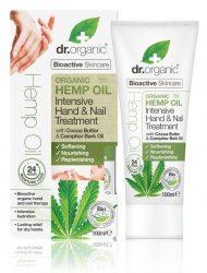 Dr. Organic Bio Kendermagolaj Intenzív kéz & köröm ápoló Bioaktív kendermagolajjal 100 ml