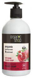 Organic Shop Vitaminos folyékony kézmosó szappan bio gránátalma kivonattal 500 ml