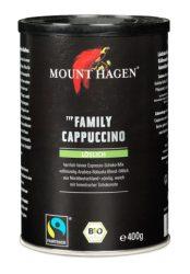 Mount Hagen Bio cappuccino Családi kiszerelés, dobozos, Fair Trade 400 g