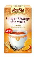 Yogi herba tea, Narancsos gyömbér herba tea vaníliával 17 filter 30 g - Bio tea