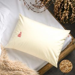 Prána párna Premium Bio tönkölyhéj párna, 50x70 cm alvópárna nagy, 100% pamut belső huzattal (csak párna)