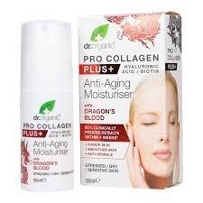 Dr. Organic Pro Collagen Anti-Aging hidratáló arckrém sárkányvérfa kivonattal 50 ml -- NetbioHónap 2019.03.28-ig 10% kedvezménnyel