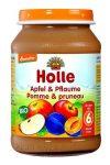 Holle Bio gyümölcsös bébiétel, alma-szilvával bébiétel  190 g