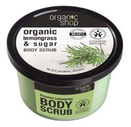 Organic Shop Provance-i citromfű cukros testradír 250 ml -- NetbioHónap 2019.05.29-ig 10% kedvezménnyel