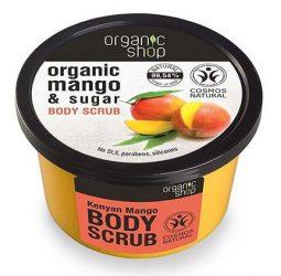 Organic Shop Bőrmegújító cukros testradír - Kenyai Mangó 250 ml