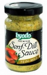 Byodo Bio mustár, mustáros kapros szósz 125 ml