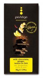 Perlége Belga Étcsokoládé Steviával - Gyömbér, citrommal, chili 85 g