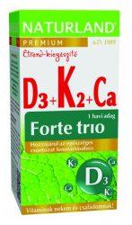 Naturland D3+k2+kálcium Forte Trió Tabletta 30 db