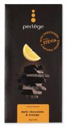 Perlége Belga Étcsokoládé Steviával - Narancsos 85 g