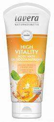 lavera tusfürdő High Vitality narancs - menta VEGÁN 200 ml