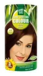 HennaPlus női tartós hajfesték, barna árnyalat, melegbarna (4.45) (Long Lasting Colour, Warm Brown)