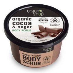 Organic Shop Bőrmegújító cukros testradír - Belga Csokoládé 250 ml
