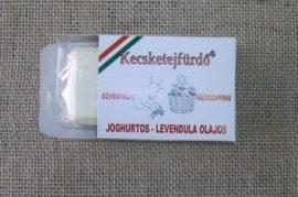 Sövénykúti kecsketejfürdő, Joghurtos - Levendula olajos háziszappan (szárazbőrűeknek) 100 g