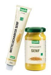 Byodo Bio mustár, Enyhén csípős mustár (tubusos) 100 ml