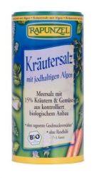 Rapunzel Bio fűszerek, tengeri só. jódtartalmú fűszersó szóródobozban algával 125 g