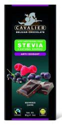 Cavalier étcsokoládé szárított bogyós gyümölcsökkel, Steviával édesítve 85 g