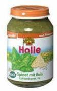 Holle Bio zöldséges bébiétel, parajfőzelék burgonyával, rizzsel, gluténmentes 190 g