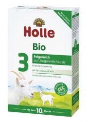 Holle Bio Csecsemőtápszer, kecsketej alapú, 3-as 400 g