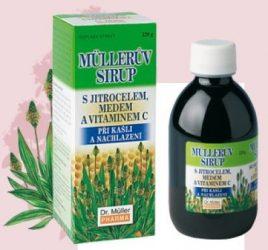 Dr. Müller Lándzsás Utifű szirup mézzel és C-vitaminnal 320 g