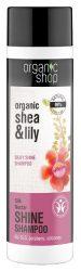 Organic Shop Selyemfény sampon bio shea vajjal és liliommal 280 ml