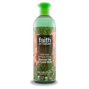 Faith in Nature Bio Aloe vera és ylang-ylang tusfürdő 400 ml