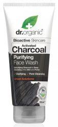 Dr. Organic Bio Mélytisztító arclemosó aktív szénnel 200 ml