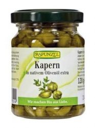 Rapunzel Bio előételek, kapribogyó olivaolajban 120 g