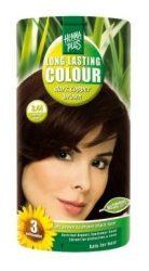 HennaPlus női tartós hajfesték, barna árnyalat, sötét rézbarna (3.44) (Long Lasting Colour, Dark Copper Brown)
