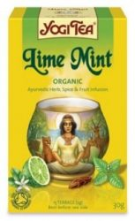 Yogi fűszeres tea, Lime-menta 17 filter 30 g - Bio tea