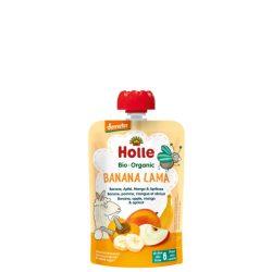 Holle Bio Banana Lama - Tasak banán, alma, mangó, sárgabarack 90 g