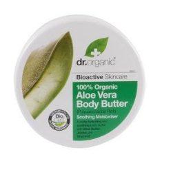 Dr. Organic Bio Aloe Vera poliszacharidokban gazdag testápoló vaj 200 ml -- NetbioHónap 2019.07.28-ig 10% kedvezménnyel