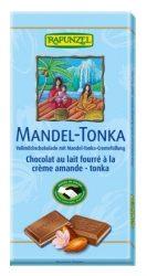 Rapunzel Bio Tejcsokoládé mandula-tonkakrémmel 100 g