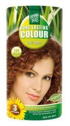 HennaPlus női tartós hajfesték, barna árnyalat, tejeskávé (7.54) (Long Lasting Colour, Café Latte)