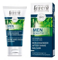 lavera Men Sensitive borotválkozás utáni balzsam, bio bambusszal és bio aloe verával 50 ml