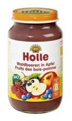 Holle Bio Junior gyümölcsös bébiétel, alma erdei gyümölcsökkel 220 g