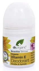 Dr. Organic Bio Vitamin E golyós dezodor illatmentes (deo roll-on) 50 ml -- NetbioHónap 2018.07.29-ig 17% kedvezménnyel