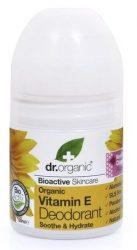 Dr. Organic Bio Vitamin E golyós dezodor illatmentes (deo roll-on) 50 ml -- NetbioHónap 2019.07.28-ig 10% kedvezménnyel