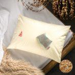 Prána párna Premium Bio tönkölyhéj párna, 50x70 cm alvópárna nagy, 100% pamut belső huzattal (csak párna) + Levendula betét