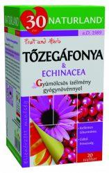 Naturland Gyümölcstea Tőzegáfonya-Echinacea 20 db filter -- NetbioHónap 2019.12.29-ig 20% kedvezménnyel