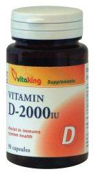 VitaKing Egyéb táplálék kiegszítők D-2000 vitamin kapszula (VK 953) 90 db