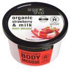 Organic Shop Epres yoghurt test mousse 250 ml -- NetbioHónap 2019.05.29-ig 10% kedvezménnyel