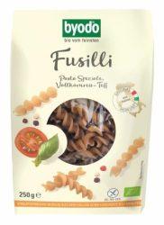 Byodo Bio Fussili, teljes kiőrlésű rizs-teff tészta - gluténmentes 250 g